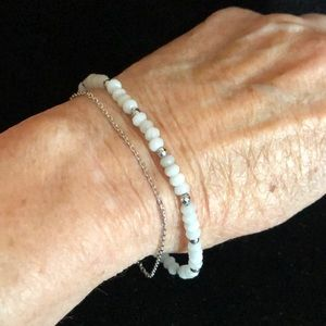 Merx Jewelry - Merx White and Gold Bead Bracelet